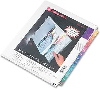 WILSON JONES 54732 Multi-Dex Quick Reference Index, Assorted Color 12 Month Tabs, Letter (WLJ54732)