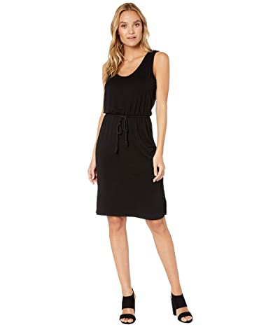 Cupcakes and Cashmere Majoni French Terry Midi Dress with Side Slits (Black) Women