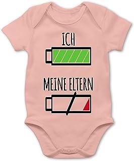 Shirtracer Strampler Motive - Ich und Meine Eltern Batterie - Baby Body Kurzarm für Jungen und Mädchen