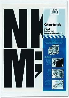 Chartpak Self-Adhesive Vinyl Capital Letters, 6 Inches High, Black, 38 per Pack (01184)