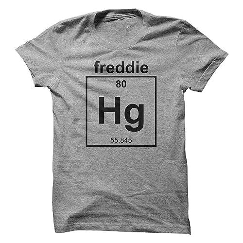 e5320655 Mad Over Shirts Freddie Mercury Singer Band Musician Chemistry Geek Cool  Designer Men's T Shirt