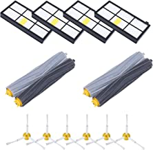 GHM 14 Pcs Replacemet Parts for Roomba 800 & 900 Series Roomba 890 805 860 870 880 960 980, 14PCS Vacuum Accessories with 6 Side Brushes ? 4 HEPA Filters ? 2 x Set of AeroForce