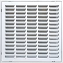 Speedi-Grille SG-2020 FG 20-Inch by 20-Inch White Return Air Vent Filter Grille with Fixed Blades