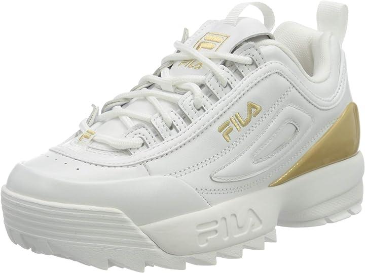fila disruptor kids scarpe fashion disruptor premium wmn white 1010862 1010862-1fg_36