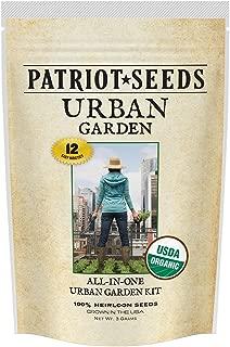 Patriot Seeds 12 Easy-to-Grow Varieties 100-Percent Certified Organic Urban Garden Seed Kit