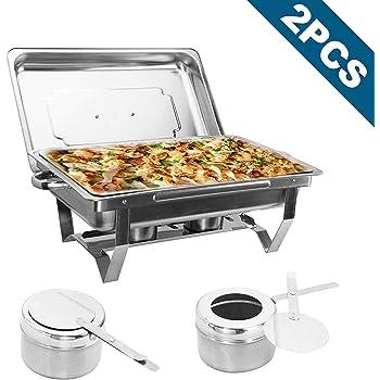 3 Pan elettrico in acciaio INOX BUFFET server e alimentare il riscaldamento Vassoio//tavolo