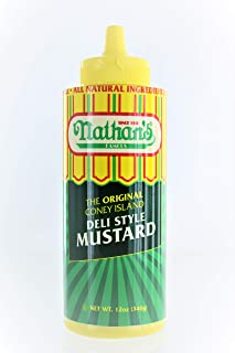 Nathans Famous Original Coney Island 100th Anniversary Deli Style Mustard (2-Pack)