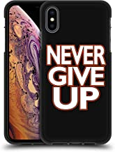 Official WWE Never Give Up John Cena 2 Black Soft Gel Case Compatible for iPhone Xs Max