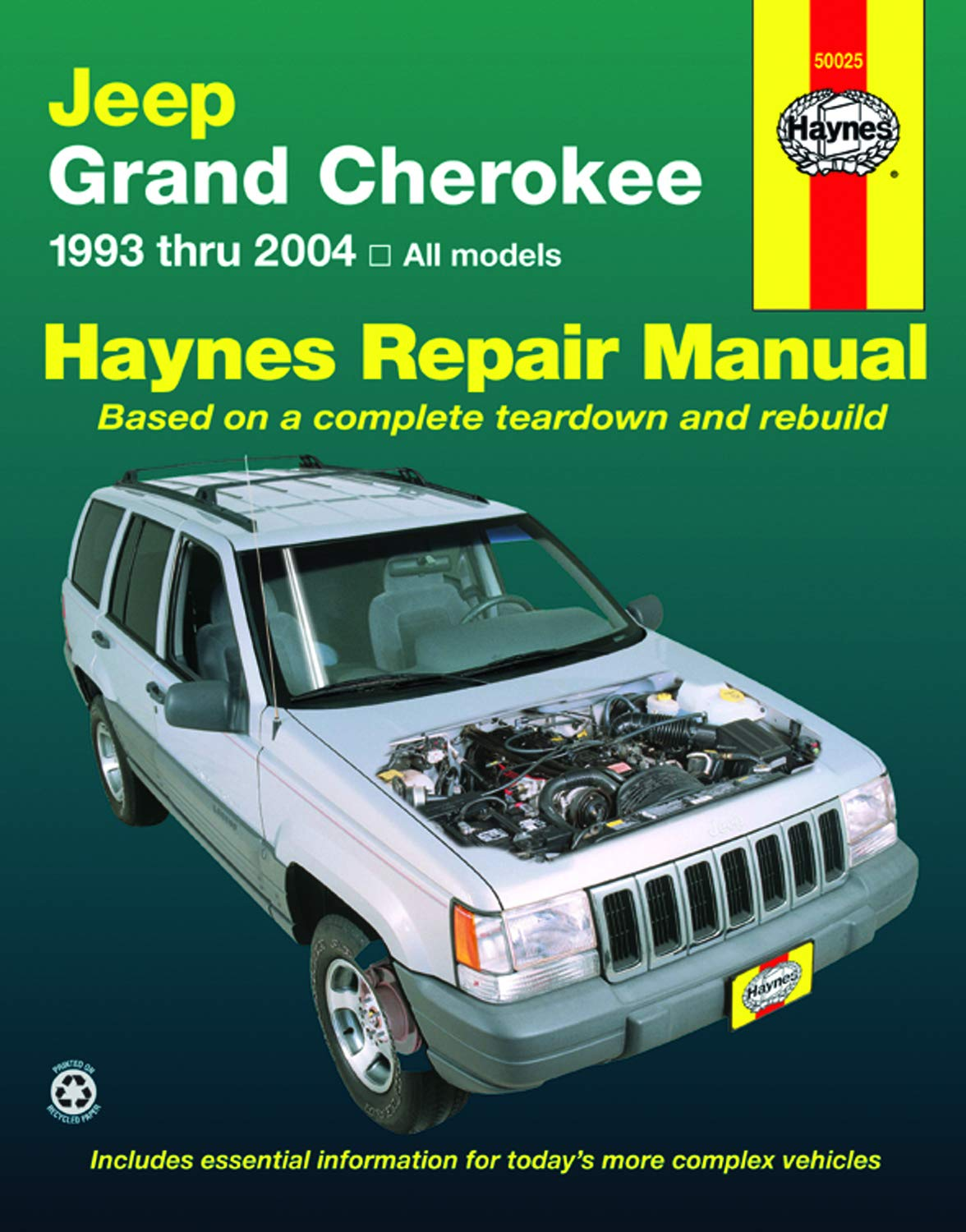 Download Jeep Grand Cherokee 1993 Thru 2004 Haynes Repair Manual: All Models 