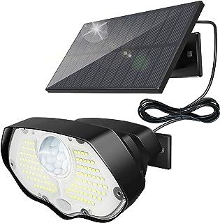 Lampe Solaire Extérieur, KOLPOP 106 LED Applique Eclairage Exterieur Solaire Avec Detecteur de Mouvement IP65 Étanche 3 Mo...