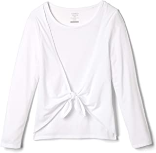 French Toast girls Tie Front Fashion Top T-Shirt