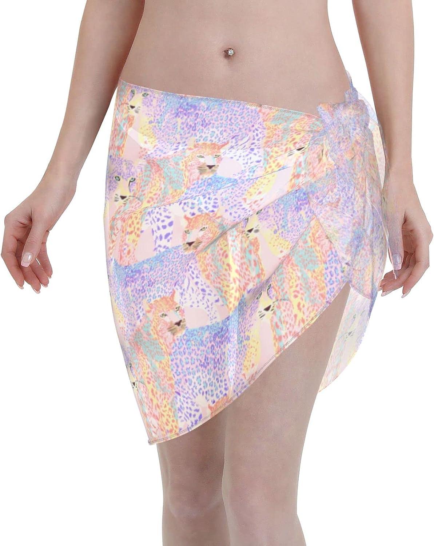 simple socks Women Beach Sarongs Sheer Cover Ups Beautiful Leopard Swimsuit Wrap Skirts Bikini Wraps for Swimwear