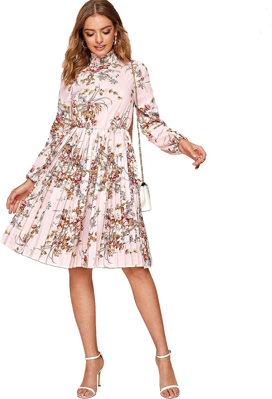 Didk Damen Kleid Elegant Langarm Blumen Kleider Kurz Knielang Partykleid Casual Fur Herbst Fruhling Damen Bekleidung Biz Con Co Jp