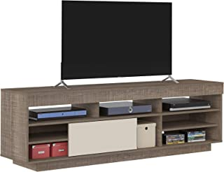 Artely Treviso TV Table for 60 inch TV, Cinnamon Brown with Off White, W 180 cm x D 41.5 cm x H 56.5 cm