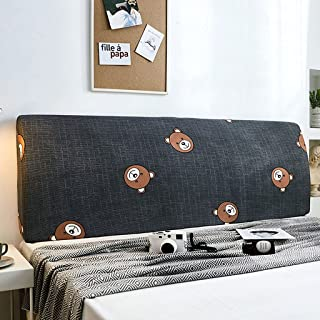 NHK-MX Funda de cabecero de Cama Elástica a Prueba de Polvo Protectora de Cabeceros de Cama Dibujos Animados Decoración de Dormitorio (Color : 9, Size : 200cm)