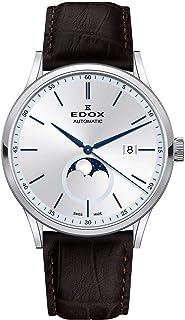 EDOX - Les Vauberts Reloj de Hombre automático 42mm Correa de Cuero 80500 3 AIBU