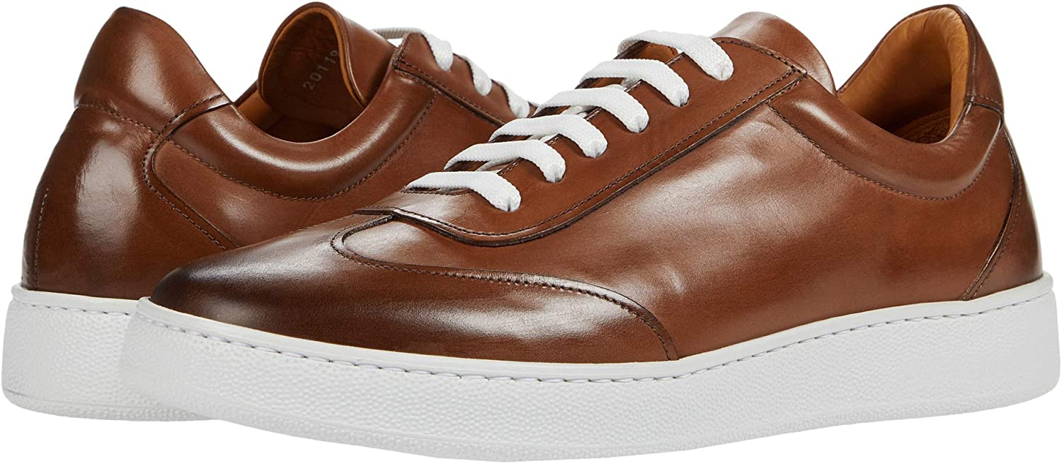 Gordon Rush Tristan - Men's High End Fashion Sneaker Handcrafted in Italy. Casual Low Top with Premium Italian Calfskin Upper, Leather Lining, and Extra Light XL Cupsole.