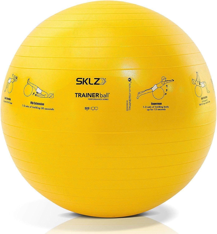 SKLZ Sport Performance Trainer BallSelf-Guided Stability Ball (55 cm)