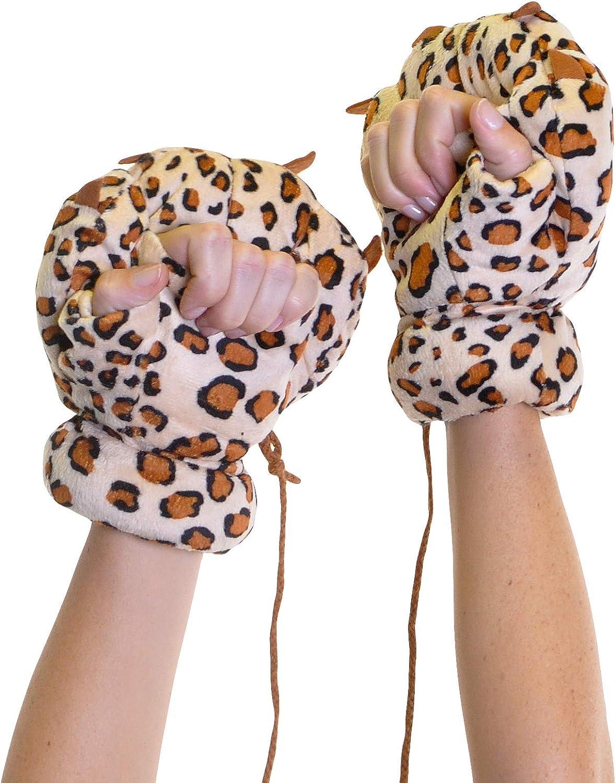 Angelina Cute Wild Animal Design Plush Mittens #3176