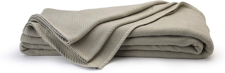 100% Organic Max 76% OFF Cotton Blanket King Size Cal Herringbone Weave Selling