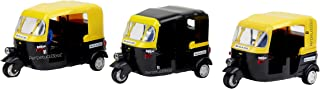 Laxmi Collection Perpetual Bliss Toys Auto Rickshaw with Pull Back Action for Boys and Girls (Black, 7 X 13 X 8cm) - Pack ...