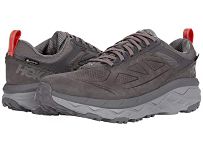 Hoka One One Challenger Low GORE-TEX(r) (Charcoal Gray/Fiesta) Men