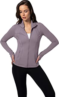 Womens Ultra Soft Lightweight Full Zip Yoga Jacket with...