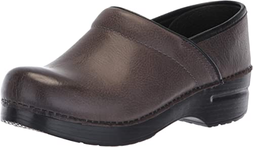 Dansko Zoccolo Professional Burnished Nubuck gris