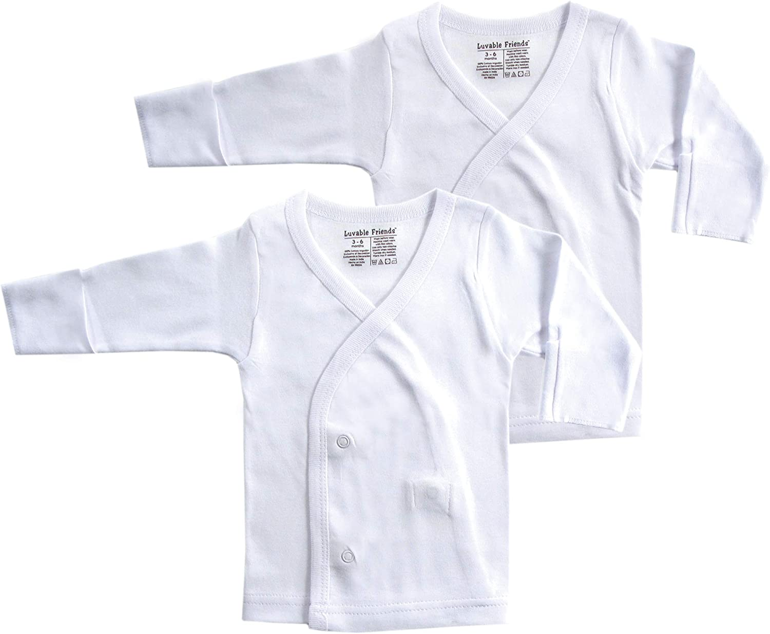 Luvable Friends Baby Side Snap Shirts