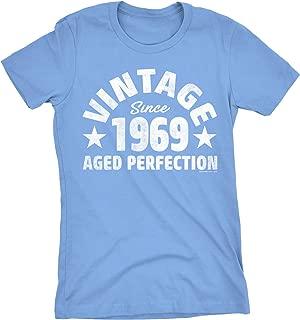50th Birthday Gift Womens T-Shirt - Vintage 1969 Retro