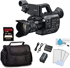 Sony PXW-FS5 XDCAM Super 35 Camera System w/Zoom Lens Bundle Kit with 64GB Memory Card + Carrying Case + LCD Screen Protectors and More