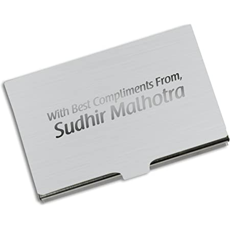 Presto Personalised Stainless Steel Card Holder Case