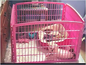 Pink ExercisePen Dogs Indoor Heavy-Duty Yard Panel PetFence Folding Portable Playpen & eBook OISTRIA