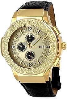 JBW Luxury Men's Saxon 16 Diamonds Multi-Function Swiss Movement Watch - JB-6101L-D