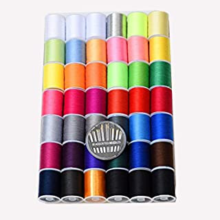 42 Color (2300Y) Sewing Thread Kit High Strength Thread Rainbow Color for Manual Embroidery or Sewing Machine Sewing kit E...