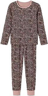 NAME IT Mädchen Nkfnightset Woodrose Leo AOP Noos Pyjamaset