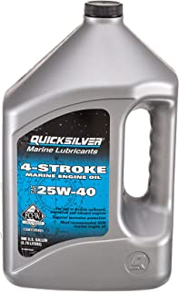 روغن موتور دریایی 4 سکته Quicksilver - SAE 25W-40 برای موتورهای جانبی Outboard، Sterndrive و Inboard