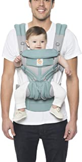 Ergobaby OMNI 360 Cool Air Mesh All-in-One Ergonomic Baby Carrier, All Carry Positions, Newborn to Toddler, Icy Mint