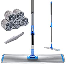 "Professional 24"" Microfiber Mop for Hardwood Durable Aluminum Flat Dust Mop with Long Handle and 3 Pcs Reusable Mop Pads a..."