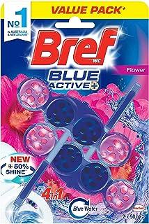 Bref Blue Active Flower Blossom, Rim Block Toilet Cleaner, 2x50g, 100 grams