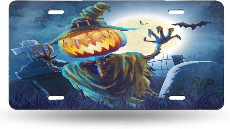 Kiuloam Halloween Pumpkin Scarecrow 12x6 Cove Sales for sale specialty shop Inch License Plate