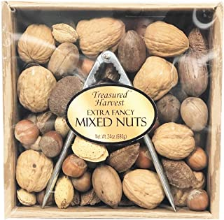 Treasured Harvest Mixed Nuts Gift Box with Nut Cracker