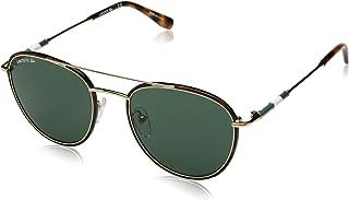 Lacoste Men's L102snd Metal Oval Novak Djokovic Capsule Collection Sunglasses, Golden Beauty, 51 mm