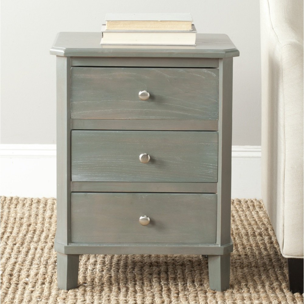 Safavieh AMH6629A American Homes Collection Joe End Table, French Grey