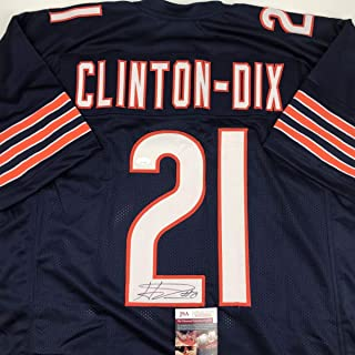 Autographed/Signed Haha Ha Ha Clinton-Dix Chicago Blue Football Jersey JSA COA