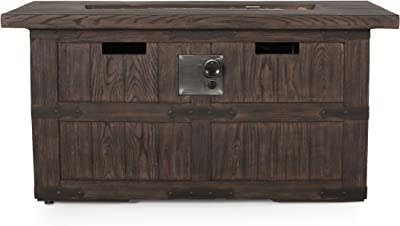 Christopher Knight Home 315620 Arnton Fire Pit, Wooden Brown