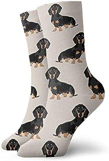 Elsaone, Niños Niñas Loco Divertido Wiener Tela para perros Doxie Dachshund Weiner Perro Mascota Perros Calcetines lindos del vestido de la novedad