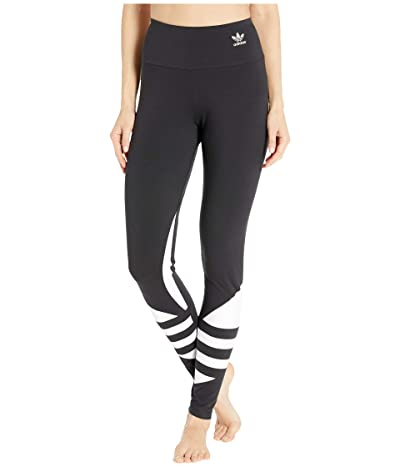 adidas Originals Large Logo Tights (Black/White) Women