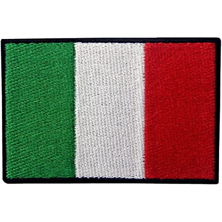 Bandiera Italiana Italiano Emblema Nazionale Termoadesiva Cucibile Ricamata Toppa