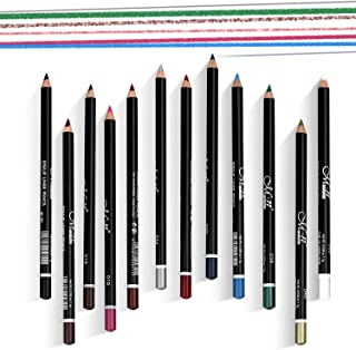 12 Assorted Colors Gel Eyeliner Pencil Set Matt Smooth Waterproof Natural Long Lasting Eyebrow Lip Liner Pencil Cosmetics Makeup Set Kit Tool
